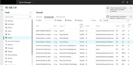 Windows Admin Center Firewall