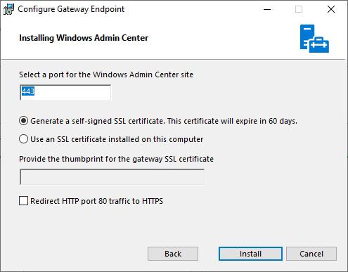 Windows Admin Center SSL Certificate