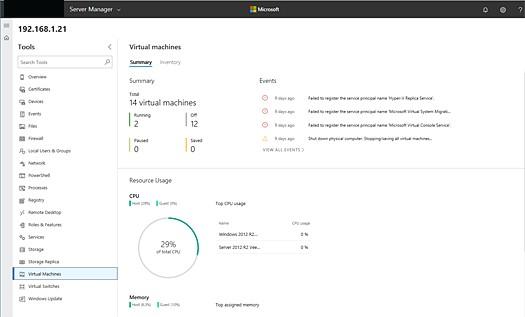 Windows Admin Center Virtual Machine