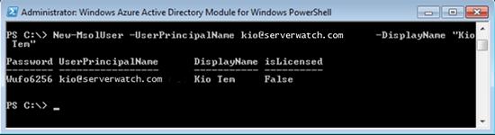 Windows Azure Active Directory PowerShell