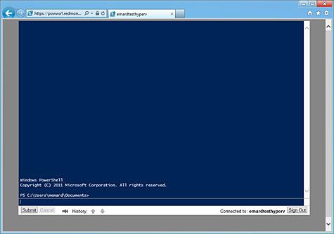 PowerShell Web Access Screenshot