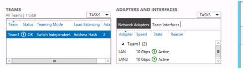 windows server 2012 adapters