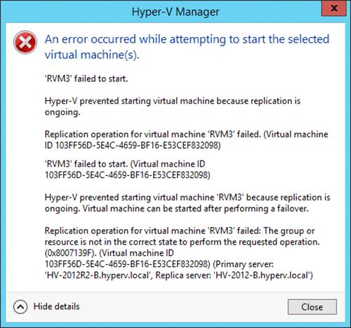 Hyper-V Replica Error Messages - Screenshot 5